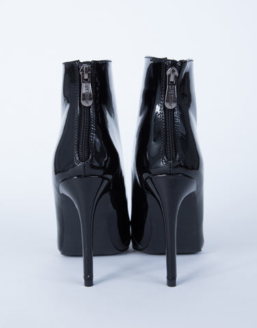Patent Leather Heel Boots