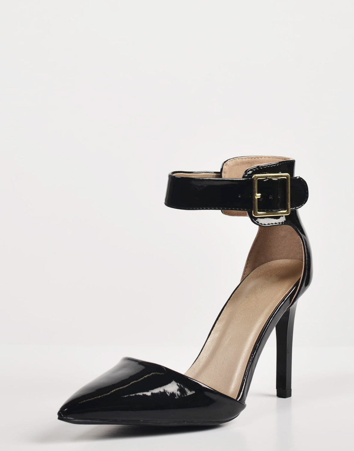 Detail of Patent Pointy Toe Ankle Strapped Pumps