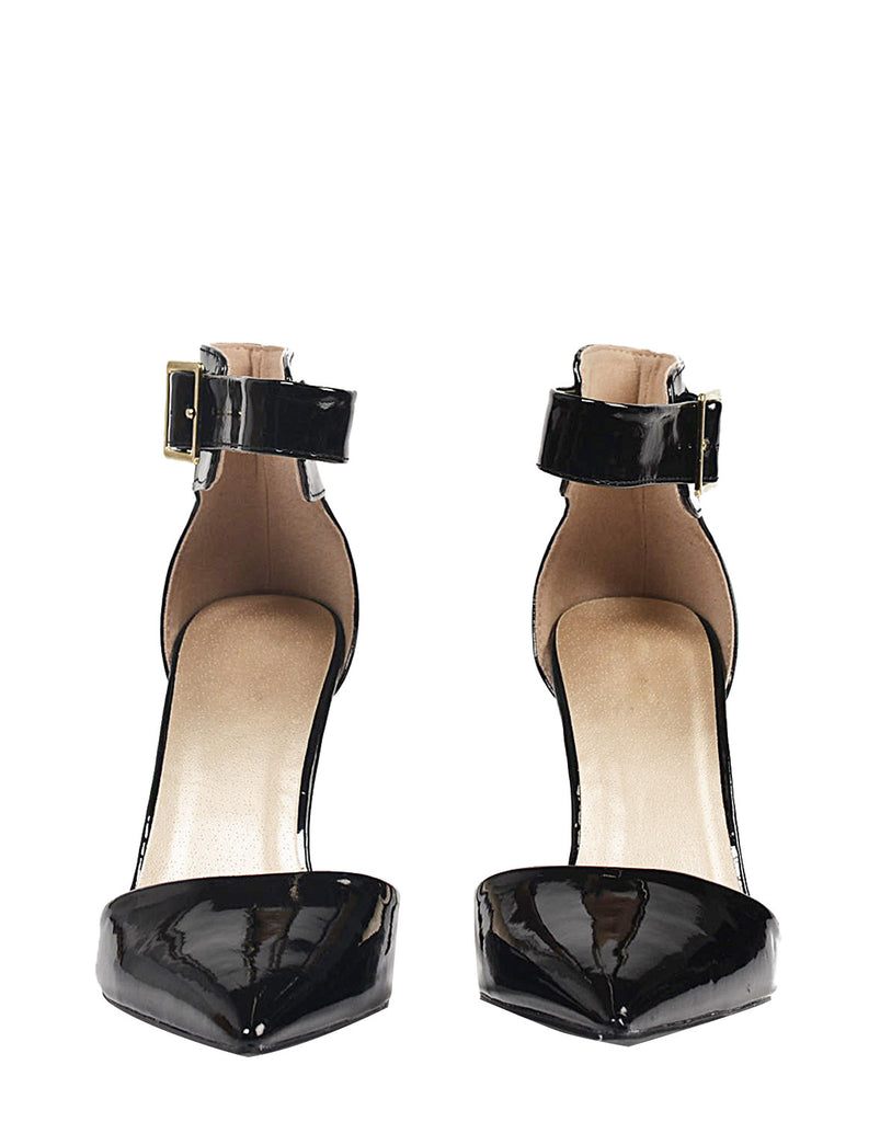 Patent Pointy Toe Ankle Strapped Pumps - 2020AVE