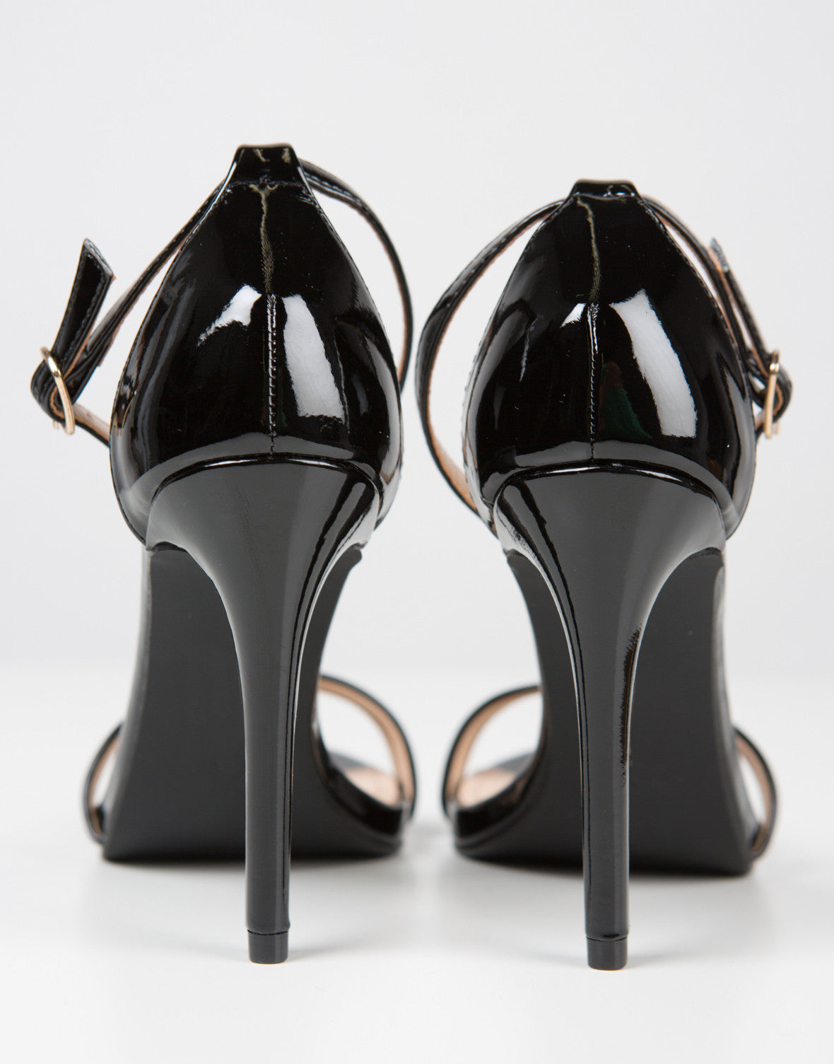 Patent Strapped Stilettos