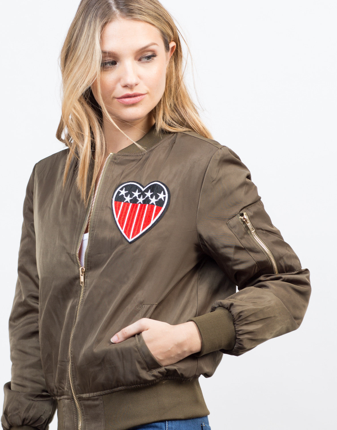 Detail of Patriotic Bomber Jacket