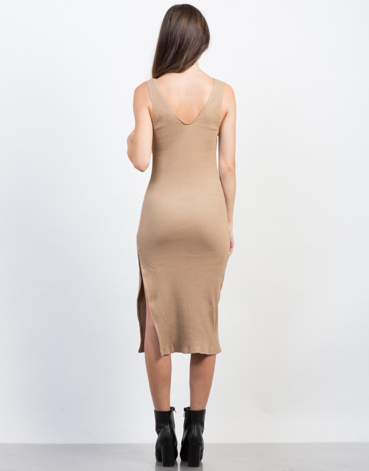 Back View of Peekaboo Midi Dress