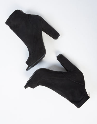 Peekaboo Suede Ankle Boots