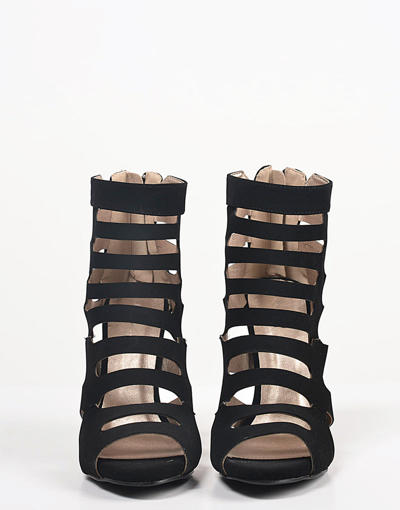 Peep Toe Caged Heels - 5.5 - 2020AVE