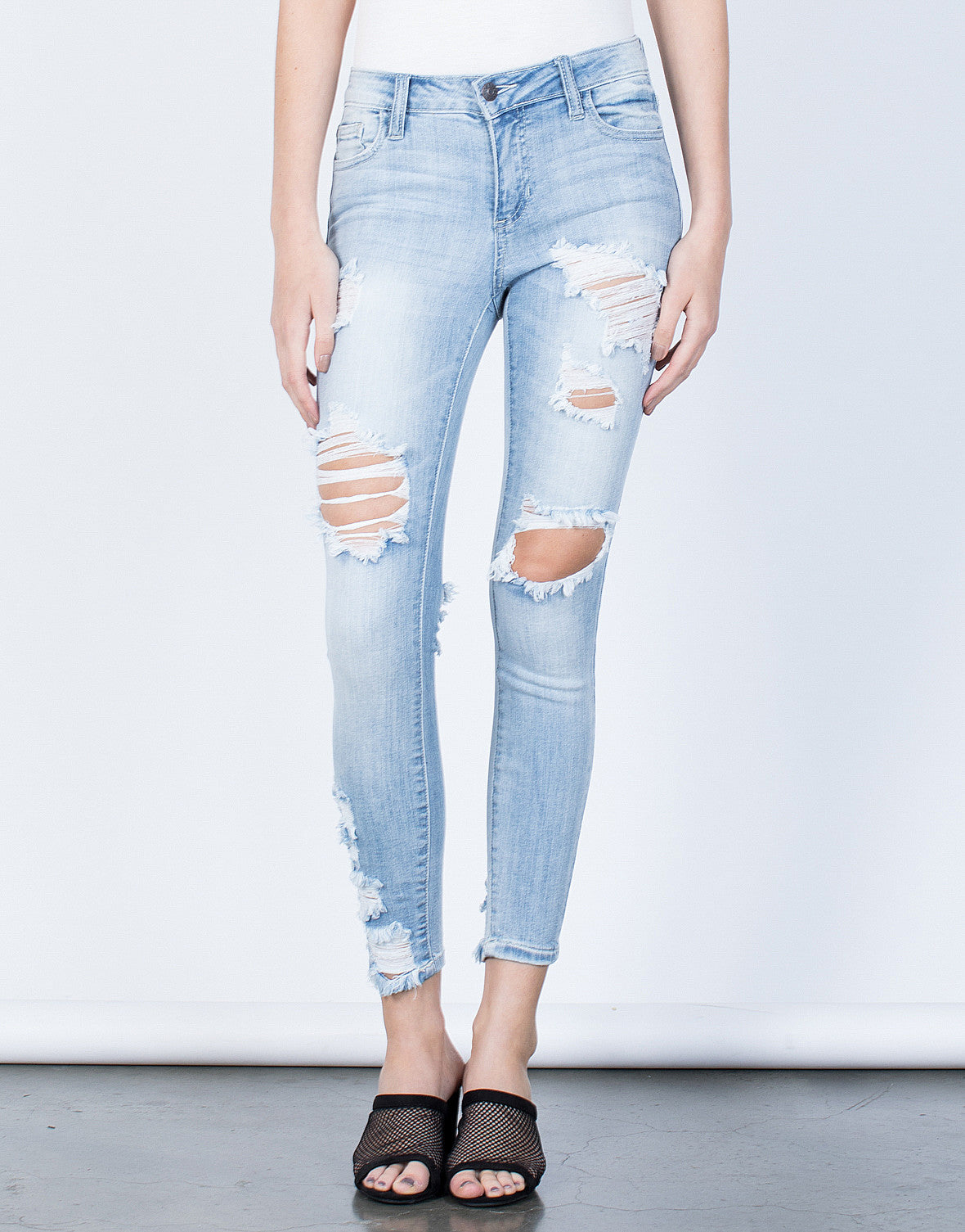 Front View of Perfect Fit Skinny Jeans