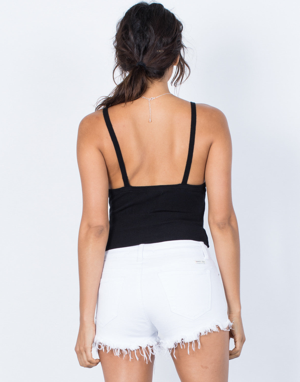 Black Perfect Fit Tank Top - Back View