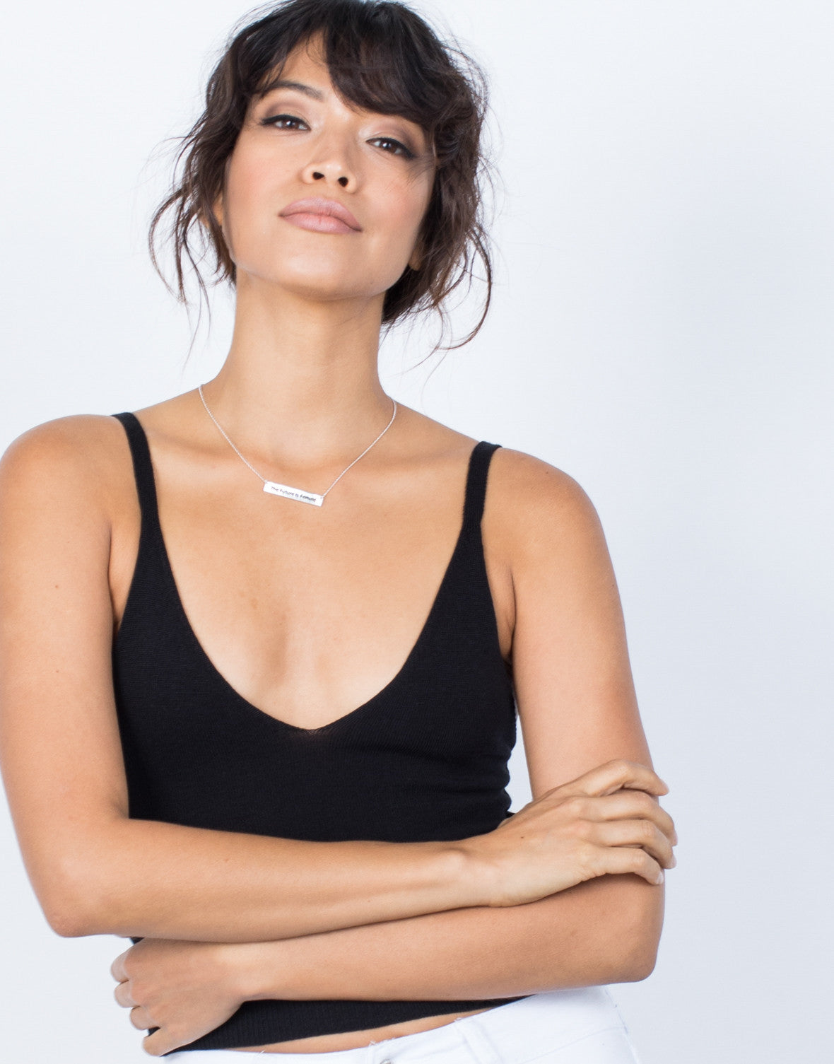 Black Perfect Fit Tank Top - Detail
