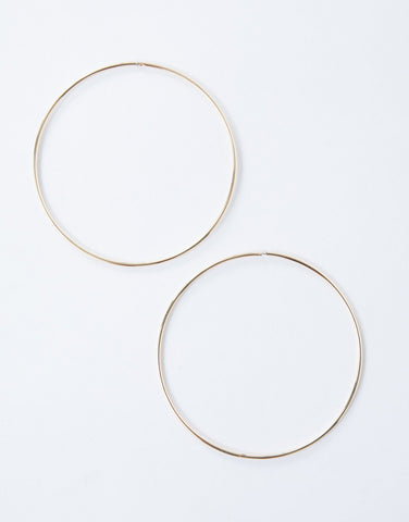 Gold Perfectly Oversized Hoops - Front View