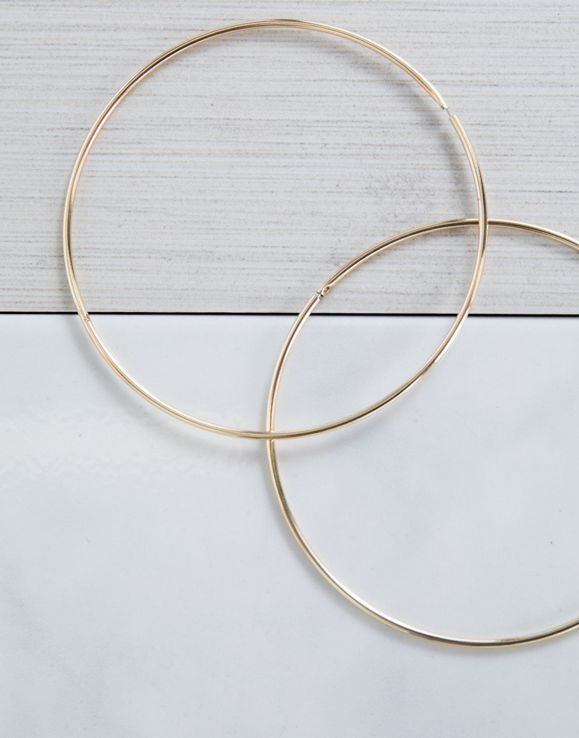 Gold Perfectly Oversized Hoops - Detail