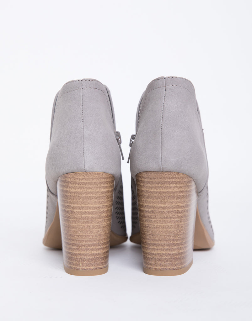 Perforated Booties Shoes -2020AVE