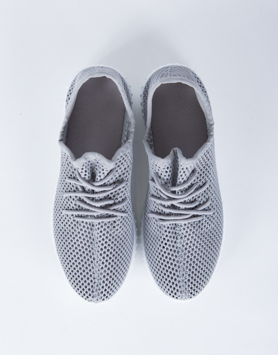 Perforated Knit Sneakers