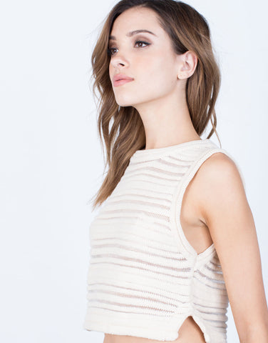 Detail of Perforated Knit Tank