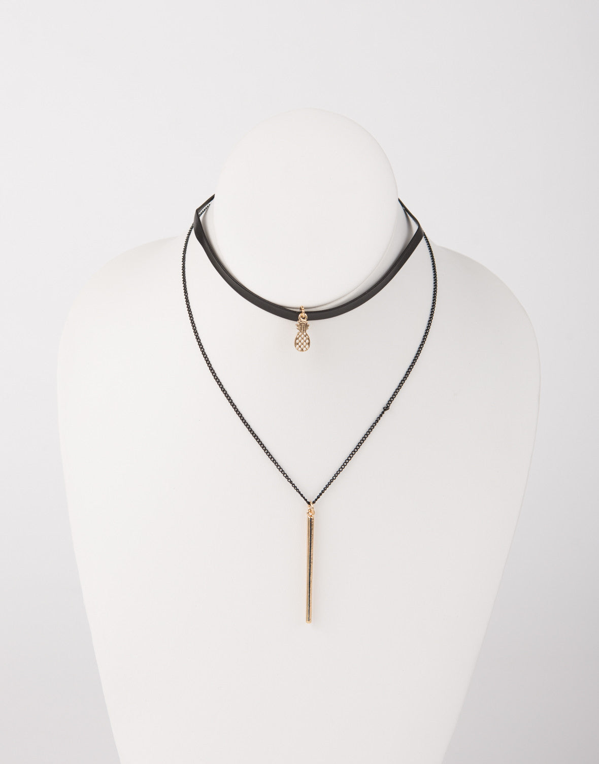 Pineapple Drop Bar Necklace - 2020AVE