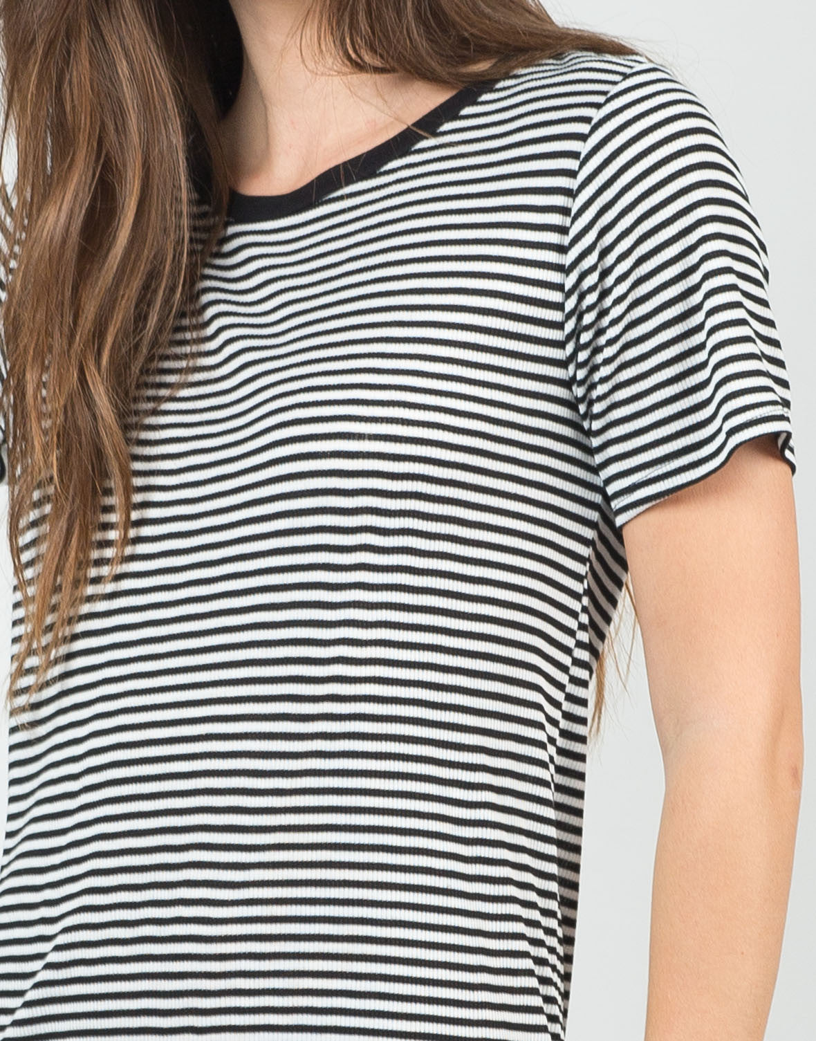 Detail of Pin Striped Shirt Dress