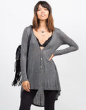 Front View of Pin Stripe Lightweight Cardigan