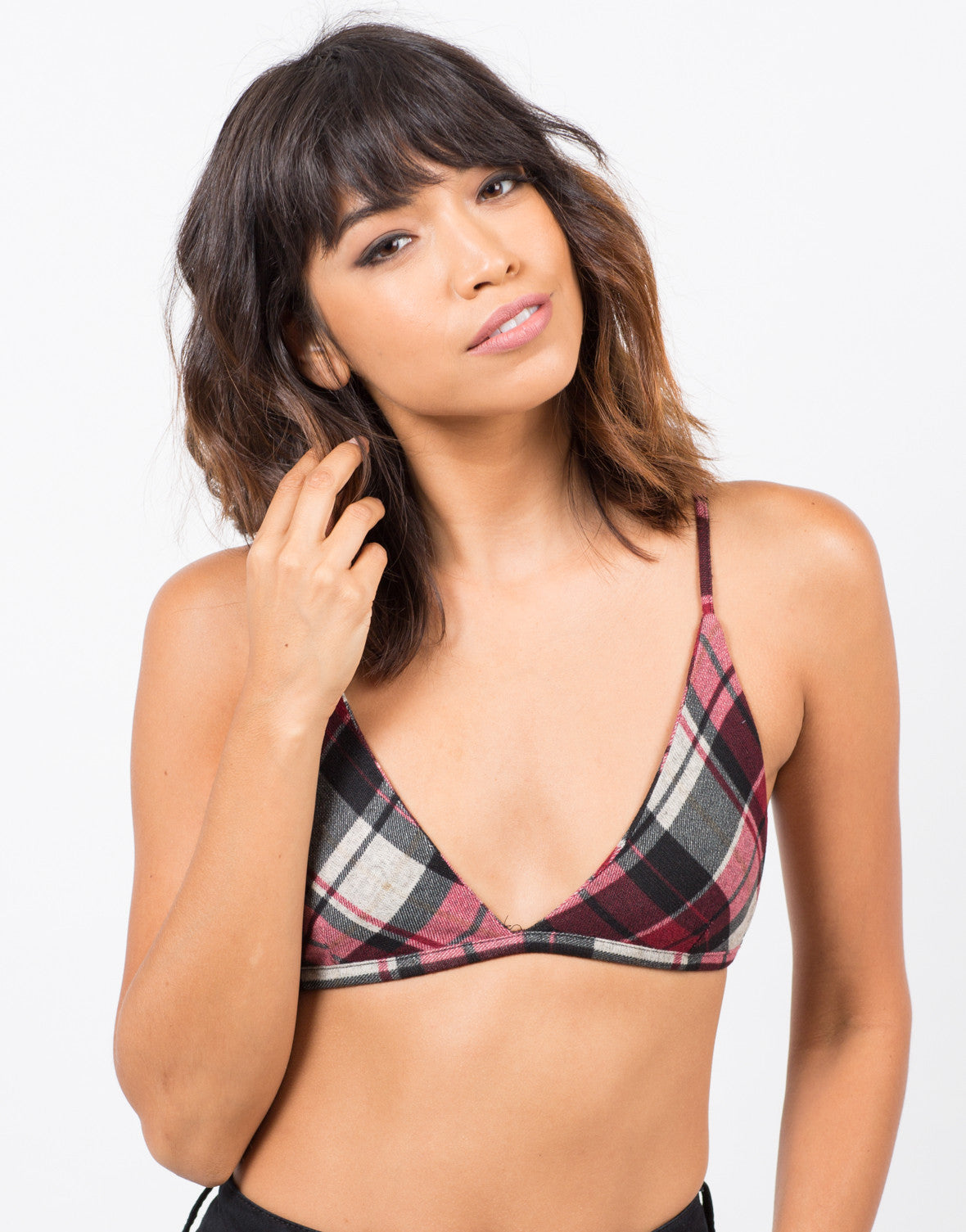 Plaid Flannel Bralette