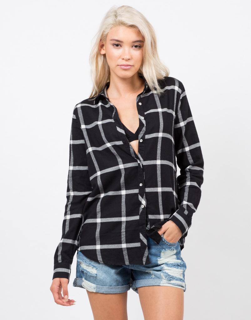 Plaid Flannel Shirt - 2020AVE