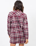 Back View of Plaid Flannel Tunic Dress