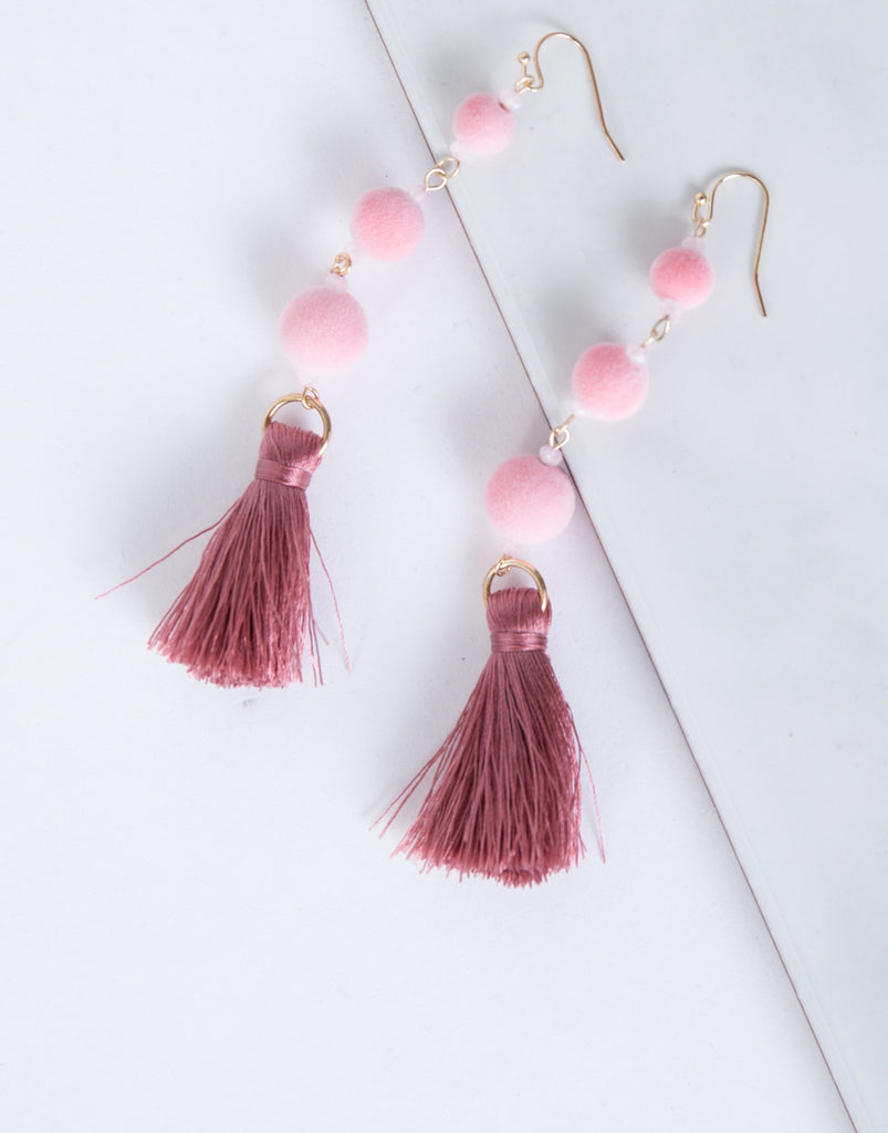 Playful Pom Pom Earrings