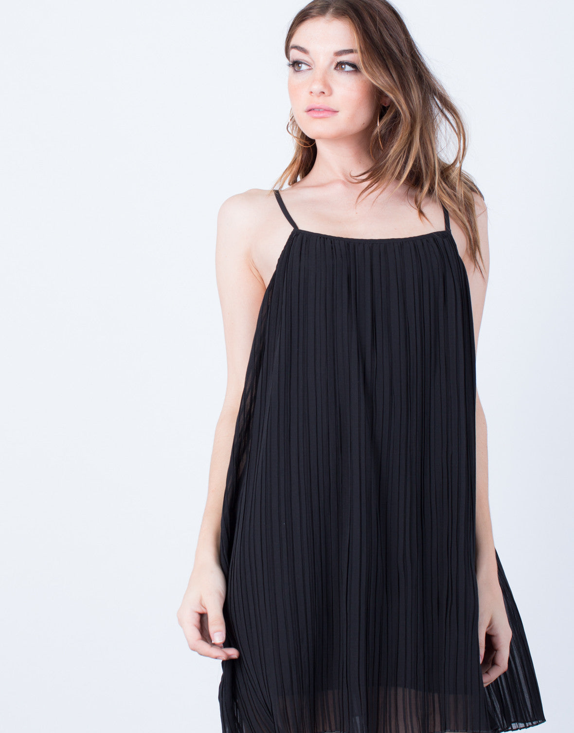 Detail of Pleated Cami Tunic Dress