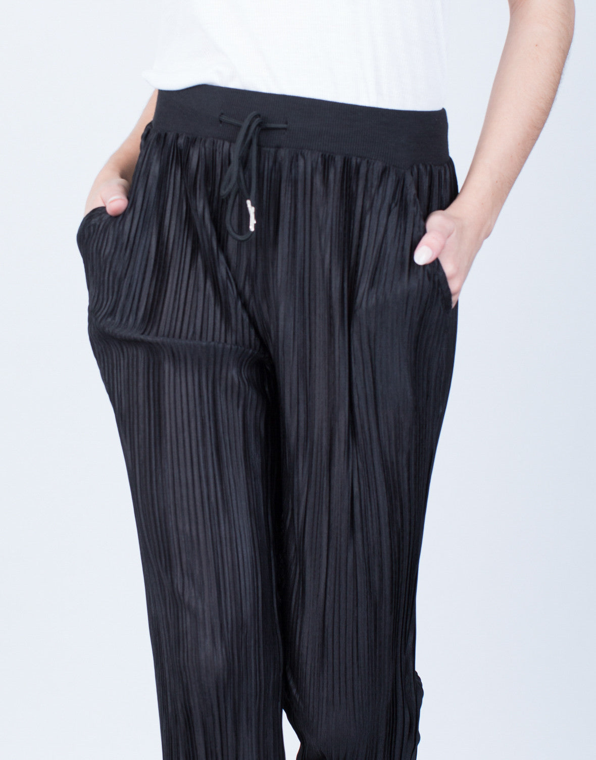 Detail of Pleated Jogger Pants