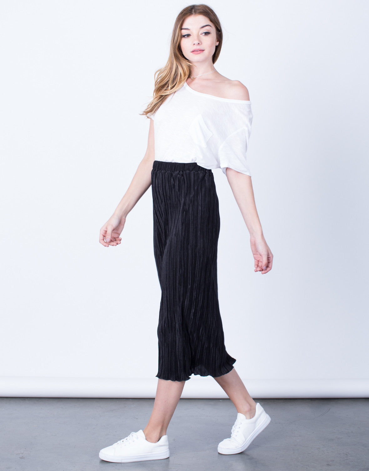 Pleated Midi Skirt - 2020AVE