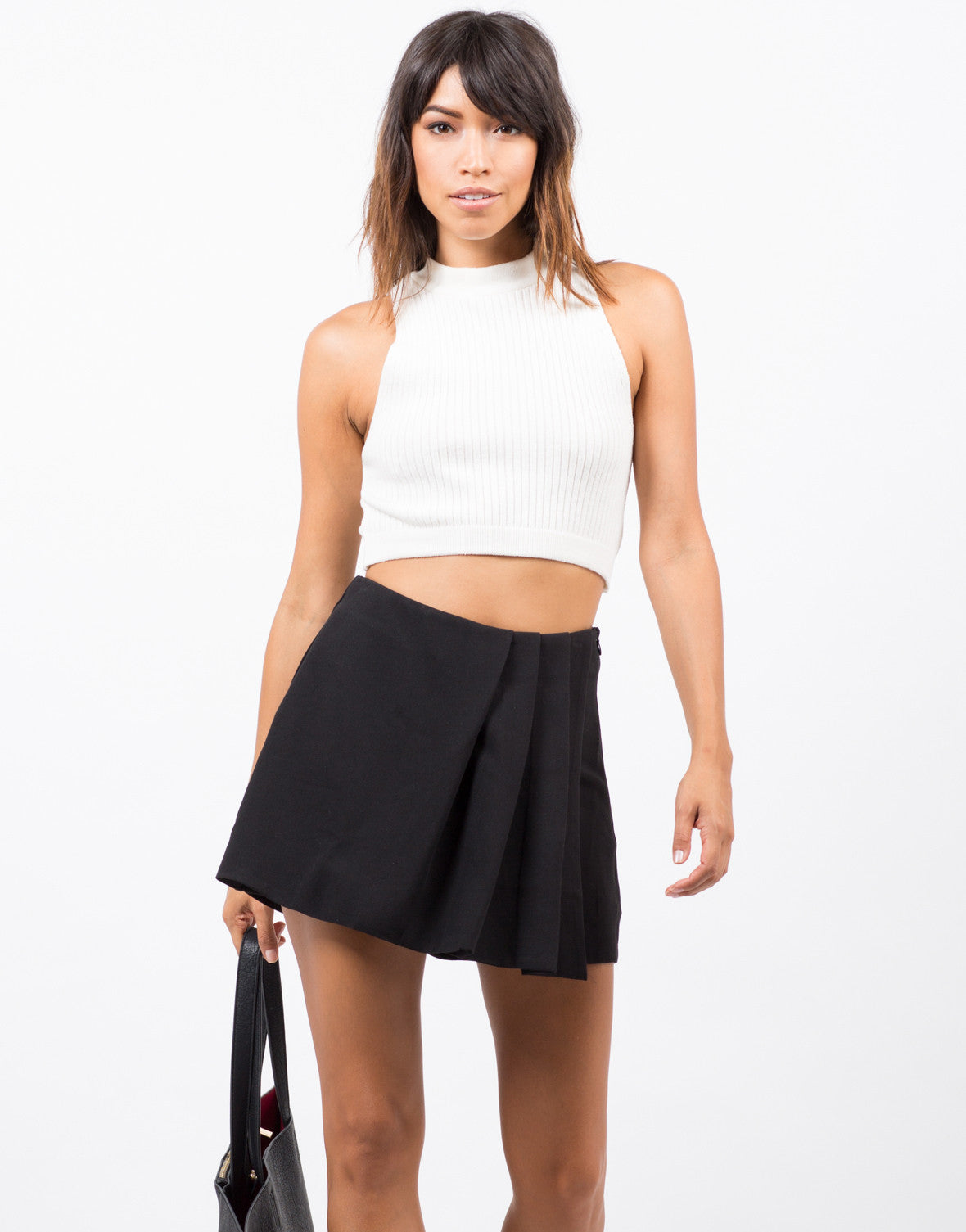 Front View of Pleated Skort