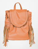 Front View of Pleater Mini Fringe Backpack