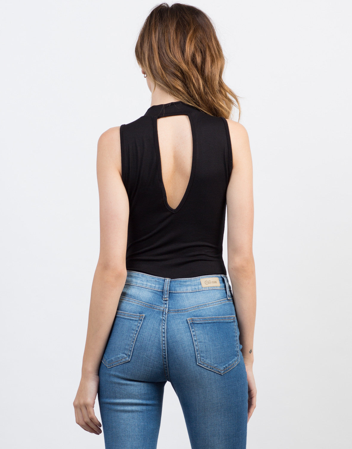 Plunging Mock Neck Bodysuit - 2020AVE