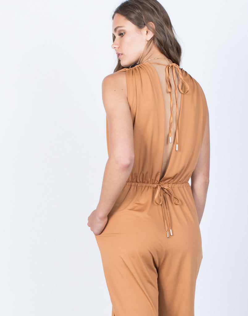 Detail of Plunging Party Time Jumpsuit
