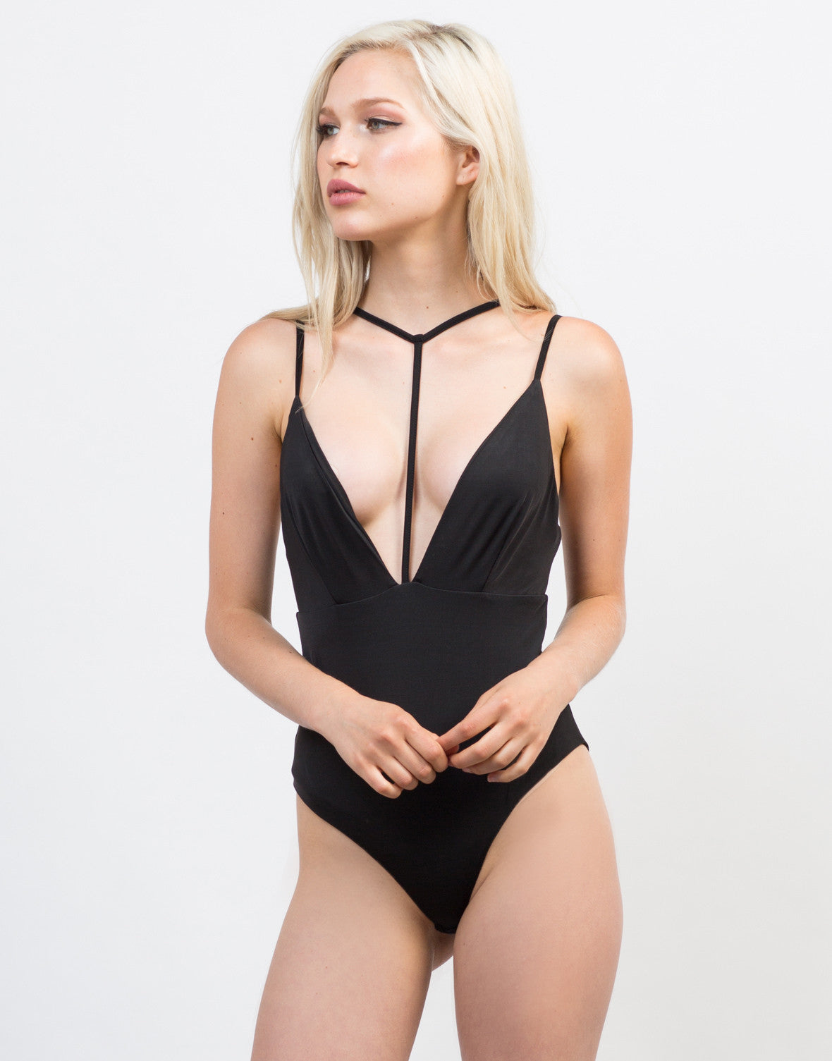Plunging Strap Bodysuit - 2020AVE