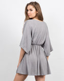 Back View of Plunging Dolman Sleeve Dress