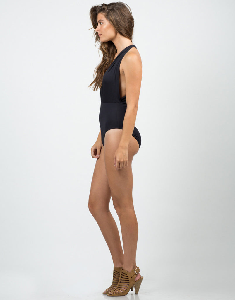 Plunging Halter Swimsuit - 2020AVE