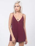 Front View of Plunging Little Romper