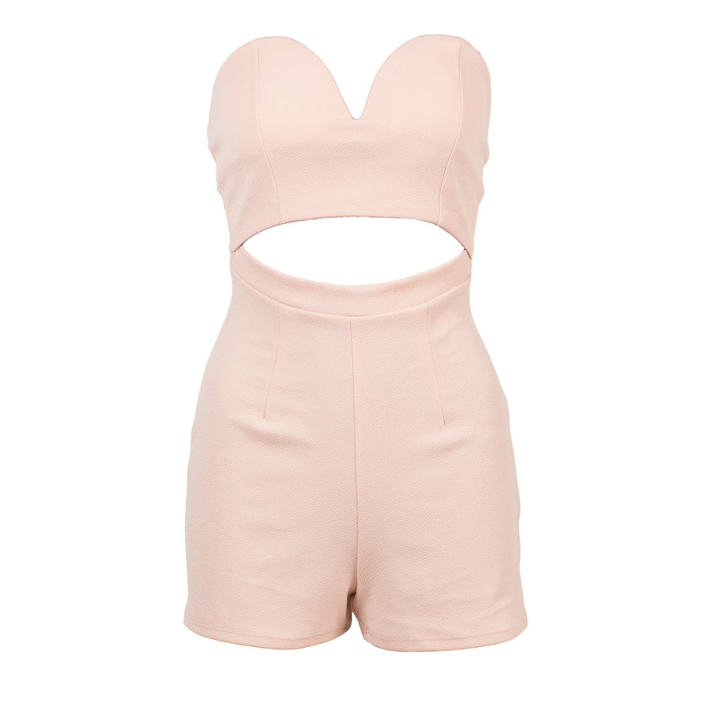 Plunging Sweetheart Romper - 2020AVE