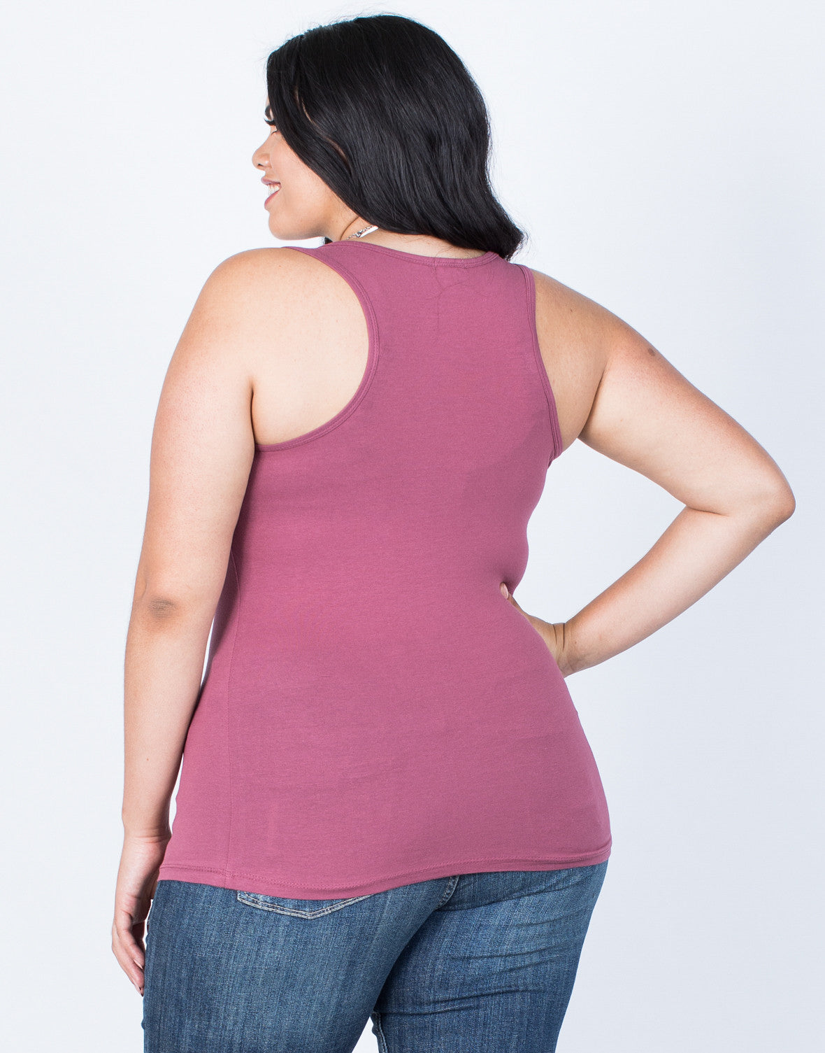 Back View of Plus Size Active Days Tank