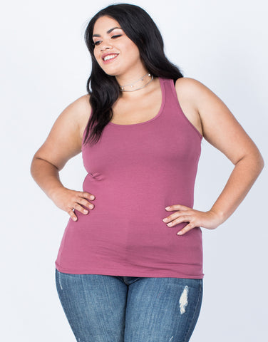 Front View of Plus Size Active Days Tank
