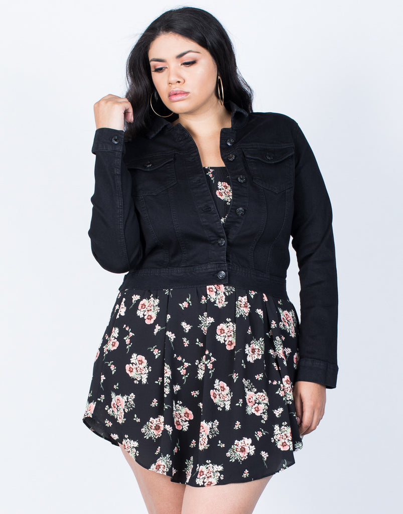 Front View of Plus Size All Year Round Jacket