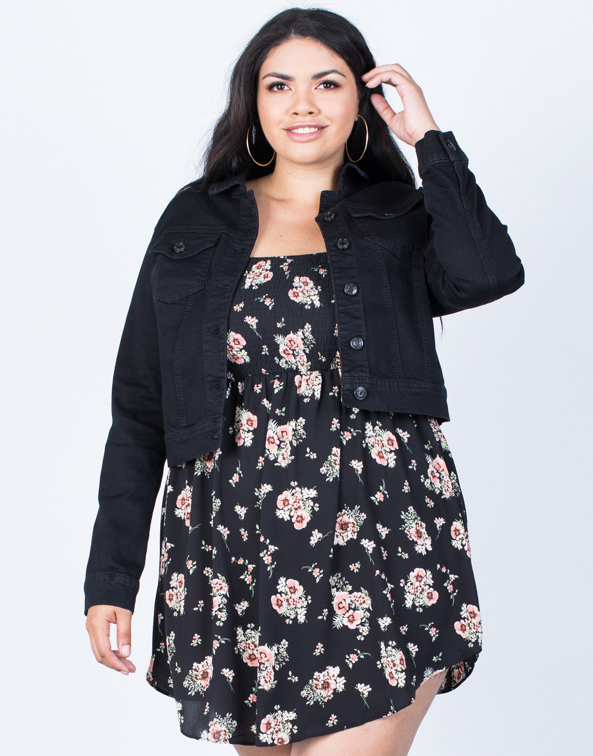 Plus Size All Year Round Jacket - Plus Size Denim Jackets - Black ...