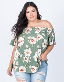 Olive Plus Size Alyssa Floral Top - Front View
