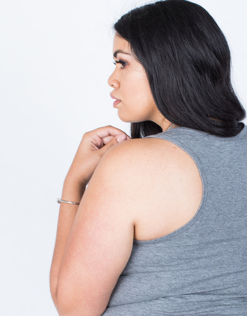 Detail of Plus Size Any Day Basic Tank