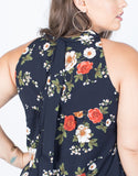 Plus Size Artistic Floral Dress - 2020AVE
