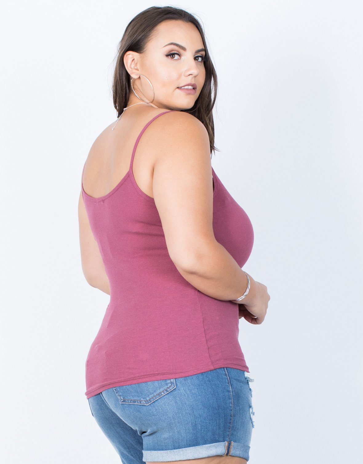 Plus Size Basic Criss Cross Tank - 2020AVE