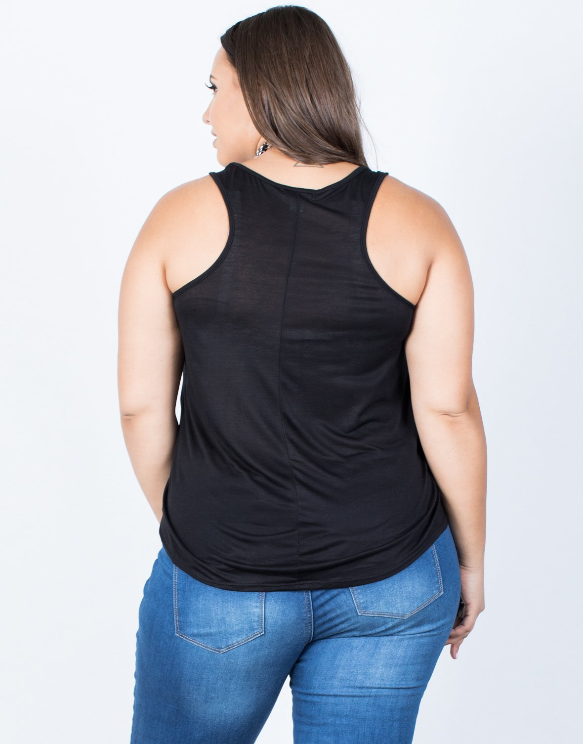 Plus Size Basic Pocket Tank - 2020AVE