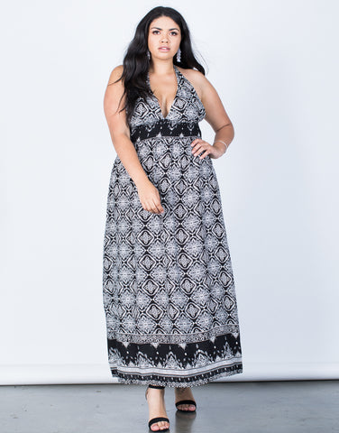 Front View of Plus Size Beach Riviera Dress