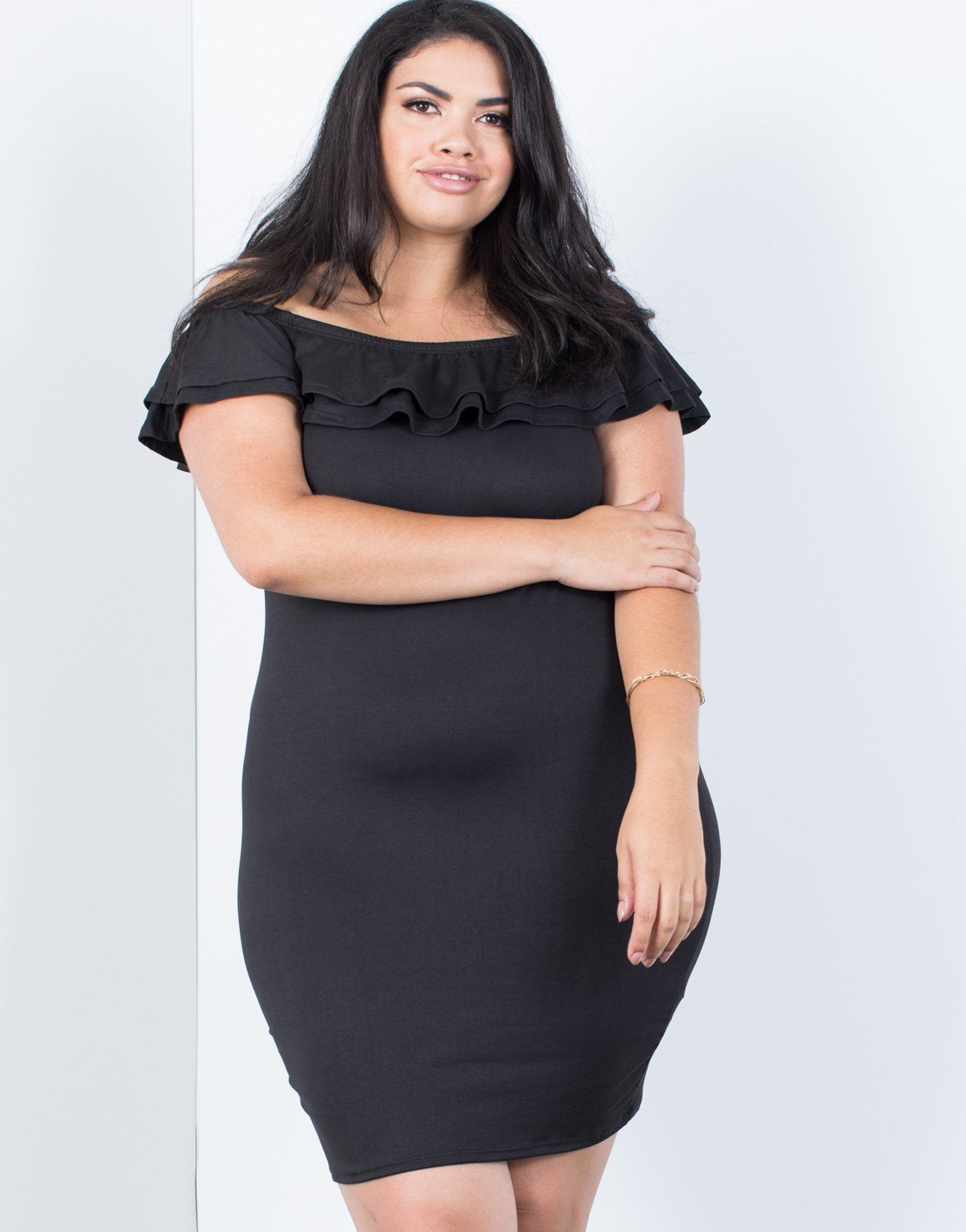 Plus Size Blair Ruffled Dress - 2020AVE