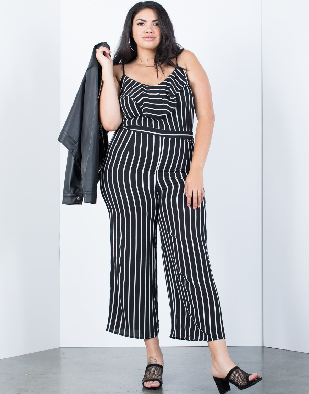 Plus Size Bold Striped Jumpsuit - 2020AVE
