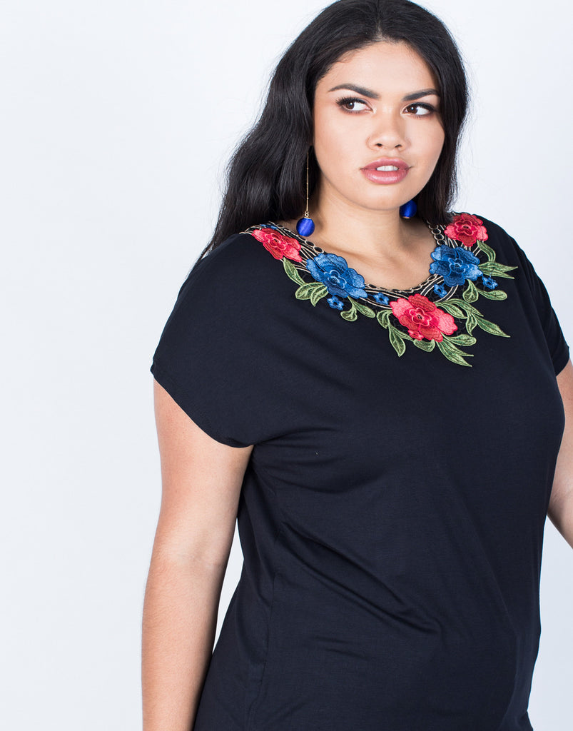Detail of Plus Size Branch Out Floral Tee