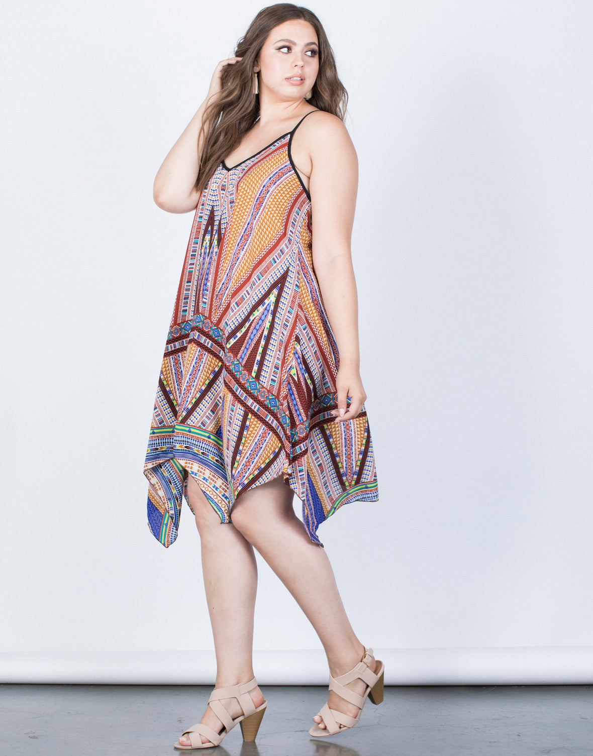 Plus Size Colorful Mosaic Dress 2020ave