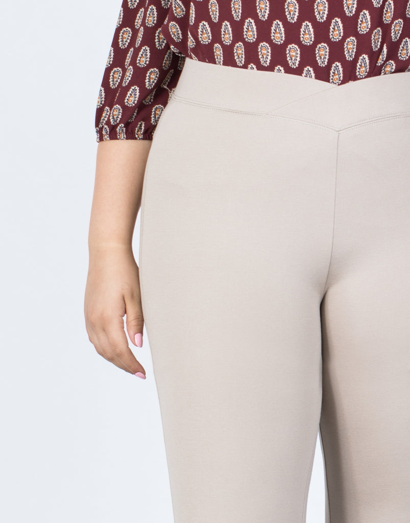 Plus Size Crossing Paths Banded Pants - 2020AVE